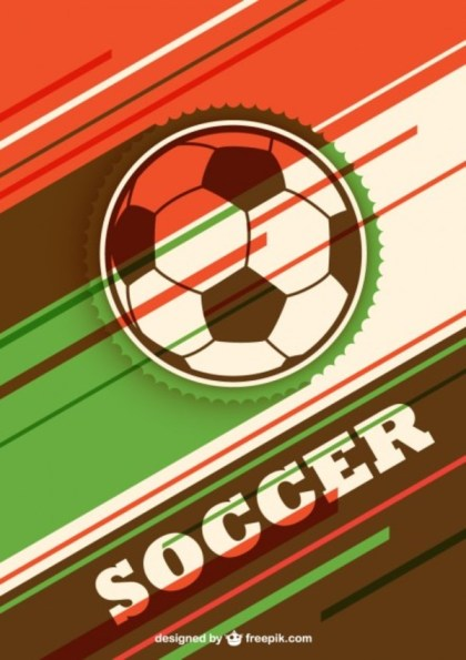 Colorfully Soccer Ball Free Vector