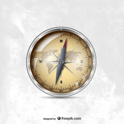 Compass Illustration Free Vector