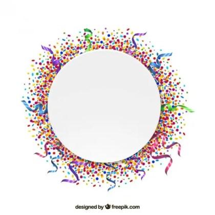 Confetti Frame Free Vector
