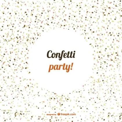 Confetti Party Free Vector