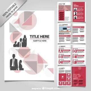 Corporate Brochure Mock-Up Design Free Vector
