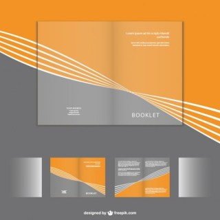 Corporate Brochure Mock-Up Set Free Vector