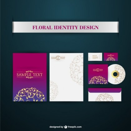 Corporate Identity Elements Free Vector