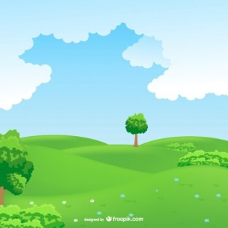Countryside Landscape Free Vector