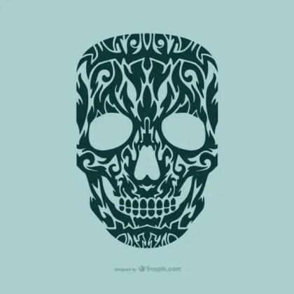 Cranium Tattoo Design Free Vector