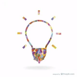 Creative Light Bulb Design Free Vector