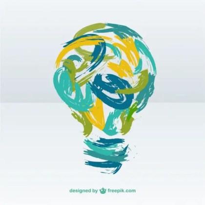 Creative Light Bulb Illustration Free Vector