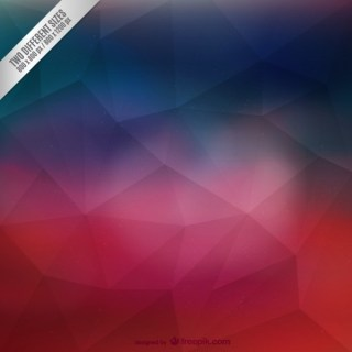 Crimson and Blue Polygonal Background Free Vector