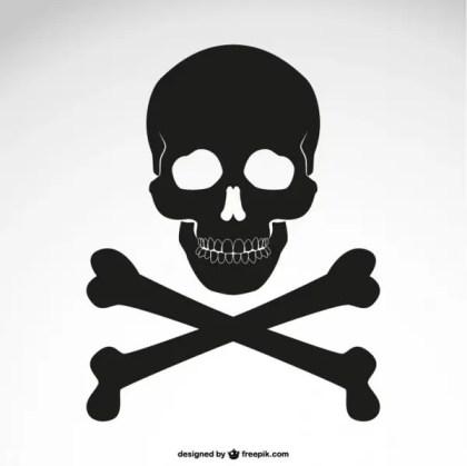 Crossed Bones Skull Icon Free Vector