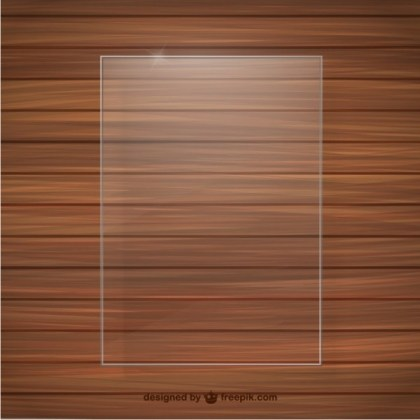 Crystal Frame Wood Texture Free Vector