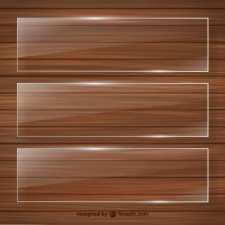 Crystal Frames on Wooden Template Free Vector
