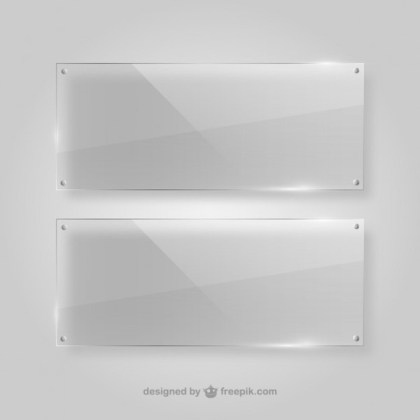 Crystal Transparent Frames Free Vector