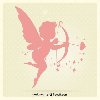 Cupid Silhouettes Free Vector
