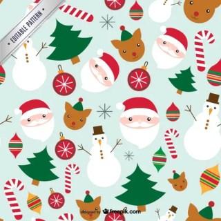 Cute Christmas Pattern Free Vector