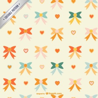 Cute Ribbons Pattern Free Vector