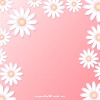 Daisies Background Free Vector