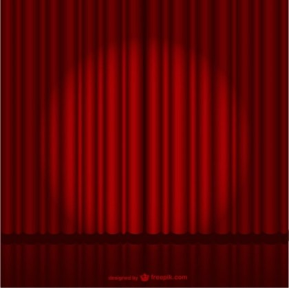 Dark Red Stage Curtain Free Vector