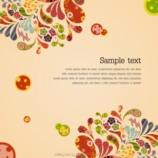 Decorative Floral Retro Background Free Vector