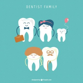 Dental Family Free Vector