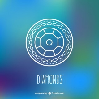 Diamond Background Free Vector