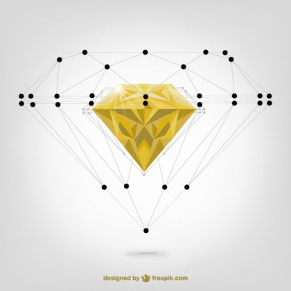 Diamond Structure Free Vector