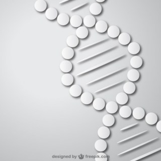 Dna Medical Background Free Vector