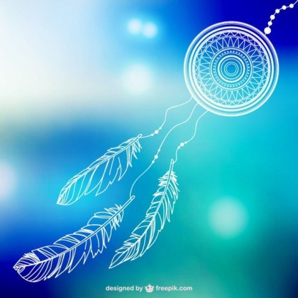 Dream Catcher Line Art Free Vector