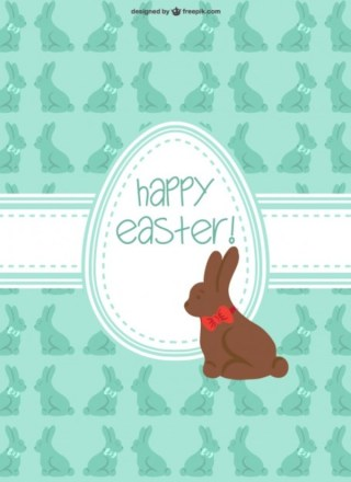 Easter Chocolate Bunny Free Vector