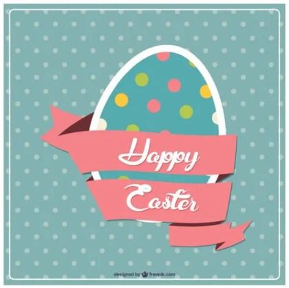 Easter Egg Design Postcard Free Vector