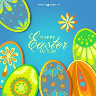 Easter Eggs Image Free Vector