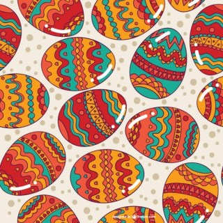 Easter Eggs Seamless Background Free Vector