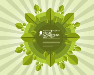 Ecology Background Design Free Vector