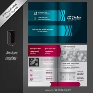 Editable Brochure Template Free Vector