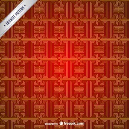 Editable Chinese Pattern Free Vector