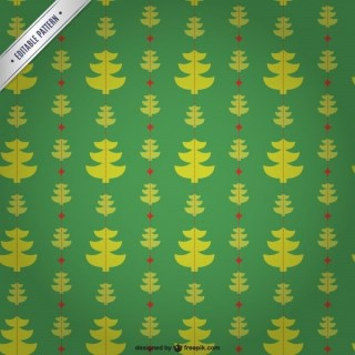 Editable Pattern with Christmas Trees Free Vector