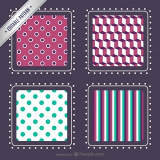 Editable Patterns Pack Free Vector