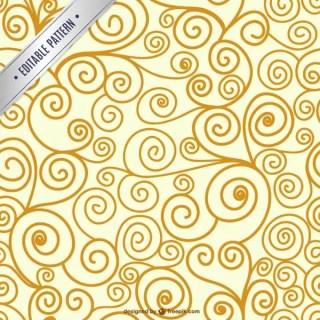 Editable Swirl Seamless Pattern Free Vector