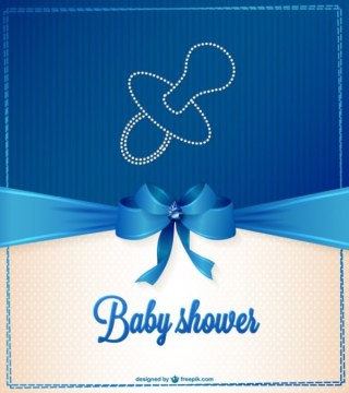 Elegant Baby Shower Illustration Free Vector