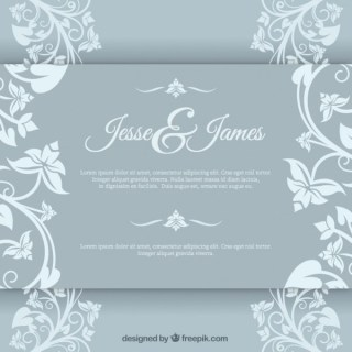 Elegant Marriage Invitation Free Vector