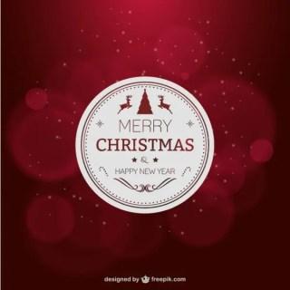 Elegant Red Christmas Card Free Vector
