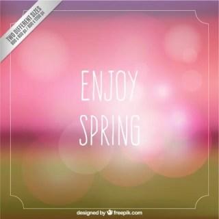 Enjoy Spring Card Free Vector