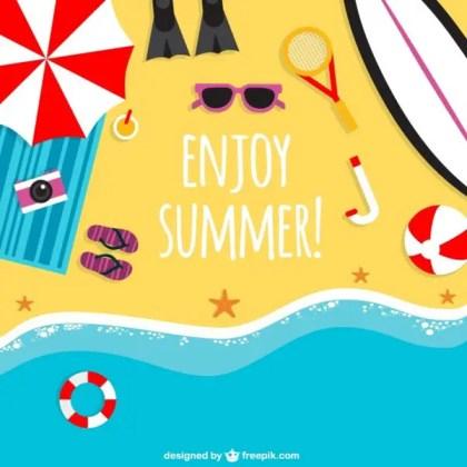 Enjoy Summer Background Free Vector
