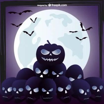 Evil Skulls Background Free Vector