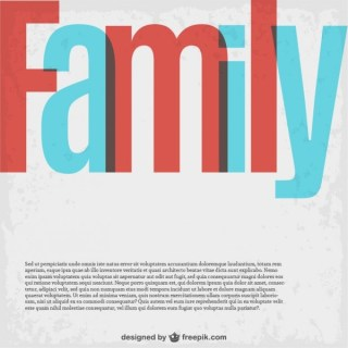 Family Lettering Template Free Vector