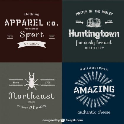 Famous Brands Retro Poster Free Vector