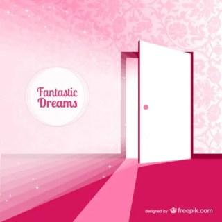 Fantasy Door for Dreams Illustration Free Vector