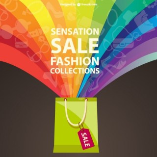 Fashion Sale Rainbow Design Free Vector