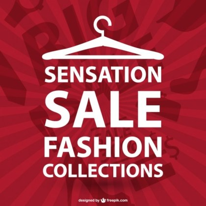 Fashion Shopping Typographic Free Vector