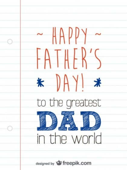 Father's Day Card Layout Free Vector
