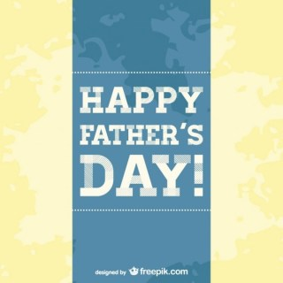 Father's Day Card Template Free Vector
